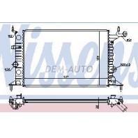 Vectra Радиатор охлаждения (NISSENS) (NRF) (GERI) (см.каталог)