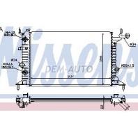 Vectra Радиатор охлаждения (NISSENS) (AVA) (см.каталог)