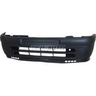 Clio  Бампер передний без отверстия под противотуманки (5 дв) черный