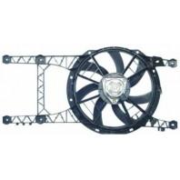 Мотор+вентилятор радиатора охлаждения двухвентиляторный с корпусом механика без кондиционера