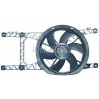 Мотор+вентилятор радиатора охлаждения двухвентиляторный с корпусом автомат без кондиционера
