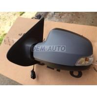 Logan {sandero}  Зеркало левое механическое с указателем поворота, грунтованная крышка (convex)
