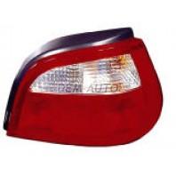 Megane  Фонарь задний внешний правый (5 дв) красно-белый