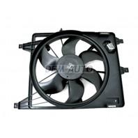 {SANDERO 08-} Мотор+вентилятор радиатора охлаждения всборе с рамкой,с кондиционером