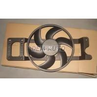 {SANDERO 08-} Мотор+вентилятор радиатора охлаждения всборе с рамкой,без кондиционера (Китай)