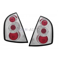 Fabia  Фонарь задний внешний левый+правый (КОМПЛЕКТ) тюнинг(ХЭТЧБЭК) внутри хромированная
