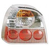 Golf  Фонарь задний внешний левый+правый (комплект) тюнинг (LEXUS ТИП) прозрачный внутри бело-красный