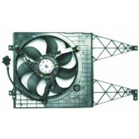 Golf {bora}  Мотор+вентилятор радиатора охлаждения 1.6 1.8 2.3 с корпусом без кондиционера