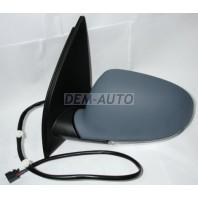 Golf  Зеркало левое электрическое с подогревом , автоскладыванием с указателем поворота (aspherical) грунтованное