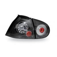 Golf  Фонарь задний внешний+внутренний левый+правый (комплект) тюнинг прозрачный с диодами(JUNYAN) внутри черный