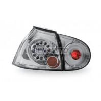 Golf  Фонарь задний внешний+внутренний левый+правый (комплект) тюнинг прозрачный с диодами(JUNYAN) внутри хром