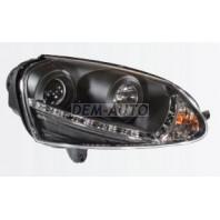 Golf {jetta 05-10} Фара левая+правая (комплект) тюнинг линзованная диодная с регулировочным мотором (SONAR)внутри черная