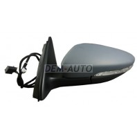 Jetta {9  Зеркало левое электрическое автоскладывание с подогревом указателем поворота подсветкой (aspherical)грунтованное