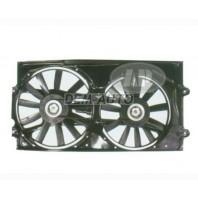 Passat Мотор+вентилятор радиатора охлаждения двухвентиляторный с корпусом под кондиционер
