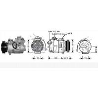 {A6 97-/Passat 1.9tdi 00-/Super B 02-} Компрессор кондиционера (см.каталог) (AVA)