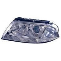 Passat  Фара левая+правая (комплект) тюнинг линзованная с светящимся ободком внутри хром