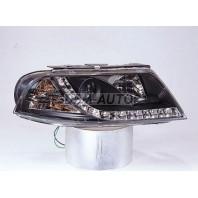 Passat  Фара левая+правая (комплект) тюнинг линзованная (DEVIL EYES) (SONAR)внутри черная