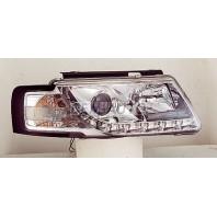 Passat  Фара левая+правая (комплект) тюнинг линзованная (DEVIL EYES),литой указатель поворота (SONAR)внутри хром