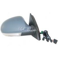 Passat  Зеркало правое электрическое с подогревом автоскладыванием,с указателем поворота,с нижней подсветкой(convex)грунтованное