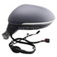 Passat  Зеркало левое электрическое с подогревом,указателем поворота 6 + 2 контакта (aspherical) грунтованное