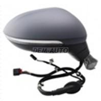 Passat  Зеркало правое электрическое с подогревом,указателем поворота 6 + 2 контакта (convex)грунтованное