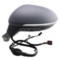 Passat  Зеркало левое с автоскладыванием,подогревом указателем поворота Side assist подсветкой памятью 15 + 2 КОНТ (aspherical) грунтованное