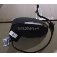 Passat  Зеркало левое электрическое с подогревом,указателем поворота 6 контактов (Китай) грунтованное