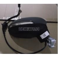 Passat  Зеркало правое электрическое с подогревом,указателем поворота автоскладыванием 8 контактов (Китай) грунтованное