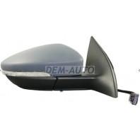 Passat cc {9  Зеркало правое электрическое с подогревом автоскладыванием указателем поворота подсветкойгрунтованное {9 контактов