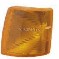 Transporter Указатель поворота угловой левый под прямоугольную решетку (DEPO) желтый