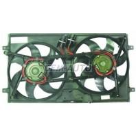 Transporter  Мотор+вентилятор радиатора охлаждения двухвентиляторный с корпусом 2.5Л.