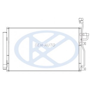 Captiva {antara 06-} Конденсатор кондиционера (KOYO) для Opel Antara