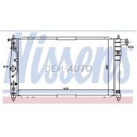 Lanos  Радиатор охлаждения автомат механика 1.3 1.5 1.6