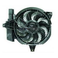 Santa fe  Мотор+вентилятор конденсатора кондиционера