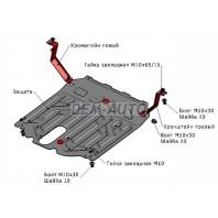 Защита поддона двигателя + кпп , с креплением , 2.2 , 2.4 , сталь