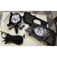 Фара противотуманная левая+правая (комплект) с проводкой, с кнопкой, с решеткой бампера