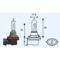 H9 {12v-65w / pgj19-5} Лампа упаковка (1 шт)