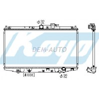 Accord  Радиатор охлаждения механика 2 2.2 (KOYO)