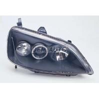 Civic  Фара левая+правая (комплект), тюнинг, линзованная, со светящимся ободком (SONAR), внутри черная