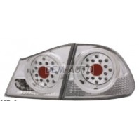 Civic  Фонарь задний внешний+внутренний, левый+правый (комплект) (седан), тюнинг, диодный, стоп-сигнал, задний ход прозрачный (EAGLE EYES), внутри хромированный