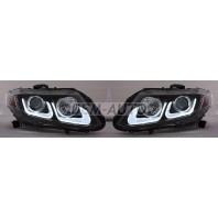 Civic  Фара левая+правая (комплект) (седан) тюнинг линзованная с светящимися секциями  +/-, под корректор (EAGLE EYES) внутри черная