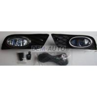 Civic  Фара противотуманная левая+правая (комплект) с проводкой, с кнопкой, с решеткой бампера, хромированная