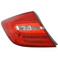 Civic  Фонарь задний внешний левый+правый (комплект) (седан), тюнинг, с диодами (EAGLE EYES), тонированный, внутри красный