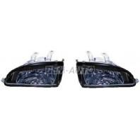 Civic  Фара левая+правая (комплект) тюнинг прозрачная черная