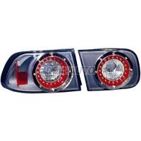 Civic  Фонарь задний внешний+внутренний, левый+правый (комплект) (4 дв), тюнинг (LEXUS тип), внутри черный