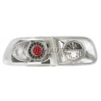 Civic  Фонарь задний внешний+внутренний, левый+правый (комплект) (3 дв), тюнинг, с диодами хрустальный, тонированный (EAGLE EYES), внутри хромированный