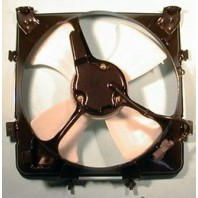 Civic  Мотор+вентилятор конденсатора кондиционера с корпусом