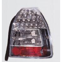 Civic  Фонарь задний внешний левый+правый (комплект), тюнинг (3 дв), прозрачный, с диодами (SONAR), внутри черно-хромированный