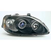 Civic  Фара левая+правая (комплект), тюнинг, линзованная, с 2 светящимися ободками (SONAR), внутри черная