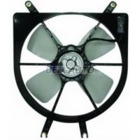 Civic  Мотор+вентилятор радиатора охлаждения с корпусом